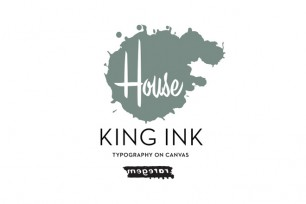 KING INK -Typography on Canvas-